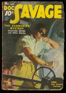 DOC SAVAGE JUNE 1938-SUBMARINE MYSTERY-STREET & SMITH G