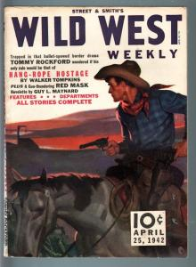 WILD WEST WEEKLY 4/25/1942-WESTERN PULP-STREET & SMITH VF