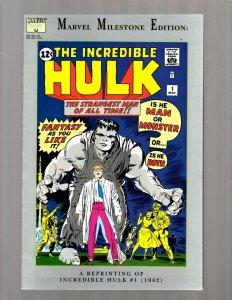 The Incredible Hulk # 1 REPRINT Marvel Comic Book Milestone Edition VF JK7