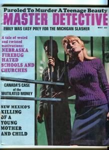 THE MASTER DETECTIVE-MAY/1967-MICHIGAN SLASHER-PAROLED MURDERER-MUTILATED  G