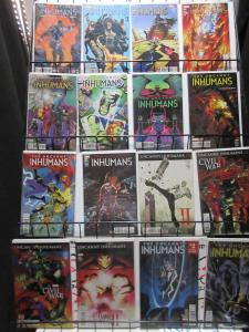 Inhumans 2014-15 Marvel Lot 36Diff Uncanny + Inhuman Blackbolt to Karnak to Hive