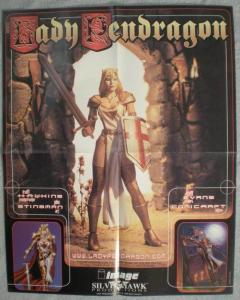 LADY PENDRAGON Promo poster, 16x 20, 1998, Unused, more in our store