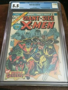 GIANT SIZE X-MEN #1 CGC 5.5 1ST COLOSSUS 1ST STORM 2ND WOLVERINE -BRONZE AGE KEY