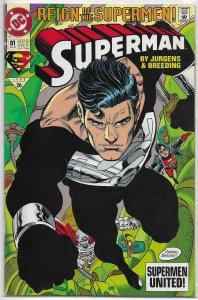Superman   vol. 2   # 81 FN/VF (Reign of the Supermen)