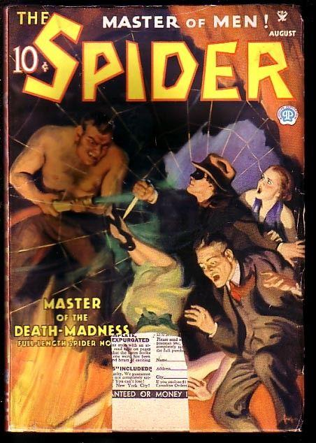 SPIDER-AUG 1935-MASTER OF THE DEATH MADNESS VG-