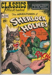Classics Illustrated #33 (Nov-51) FN/VF Mid-High-Grade Sherlock Holmes, Docto...