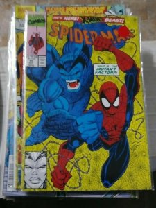 SPIDER-MAN # 14 MARVEL 1991 ERIK LARSEN BEAST XMEN MUTANT FACTOR