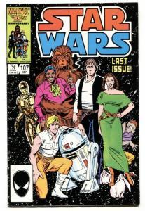 STAR WARS COMICS #107-RARE FINAL ISSUE-MARVEL-1986 vf/nm