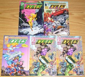 Exiles #1-4 VF/NM complete series + silver ultra limited 5000 variant Malibu 2 3