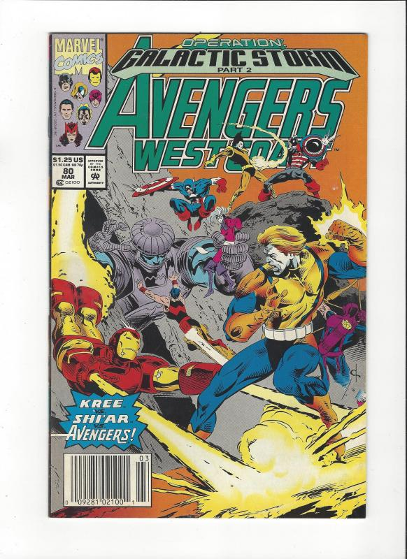 Avengers West Coast #80 Galactic Storm NM
