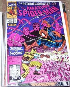 Amazing Spider-Man # 335  Marvel  sinister six pt 2 SHOCKER DOCTOR OCTOPUS