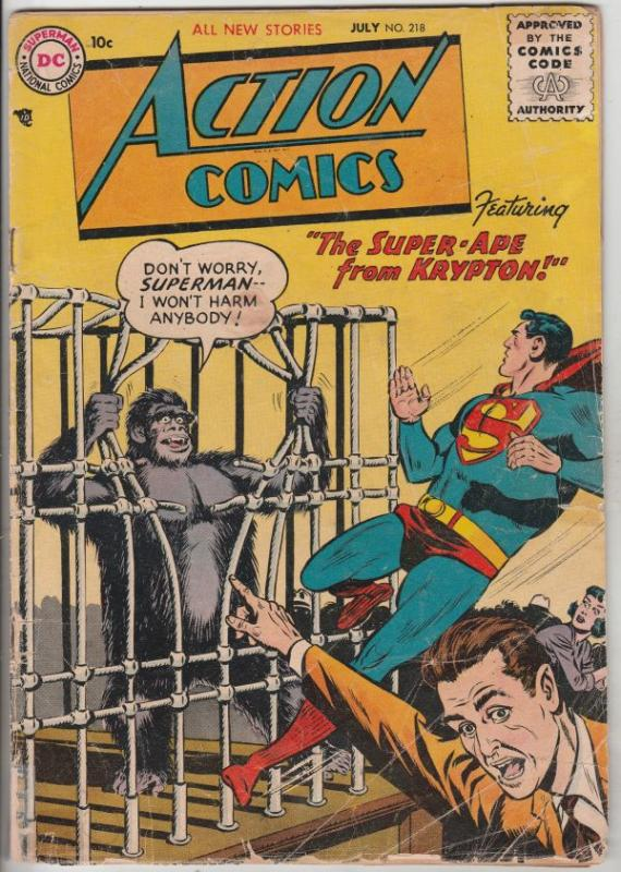 Action Comics #218 (Jul-56) VG Affordable-Grade Superman