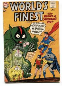 WORLD'S FINEST #112-1960-DC-BATMAN-SUPERMAN-ROBIN-vg-