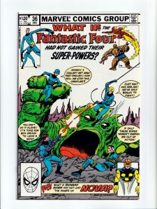 What If #36 Fantastic Four Had Not Gained Super Powers Marvel Comics 1982 NM