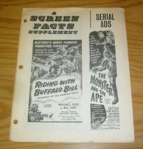 Screen Facts Supplement VG ghost riders of the west - king of the rocket men