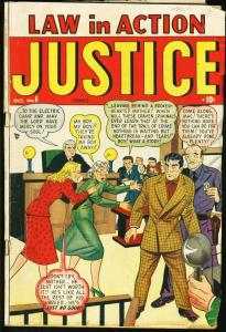 JUSTICE COMICS #6 TIMELY PRE-CODE CRIME 1948 VG