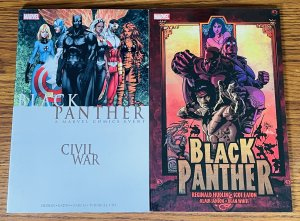 LOT OF 2 BLACK PANTHER TPBs CIVIL WAR #1 2016 & BAD MUTHA 2006 1ST PRINTS Marvel