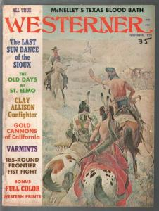 Westerner 11/1970-Clay Allison gunfighter-John Clymer-Wyatt Earp-VG