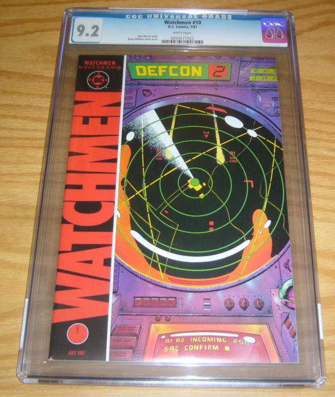 Watchmen #10 CGC 9.2 alan moore - dave gibbons - dc comics - july 1987