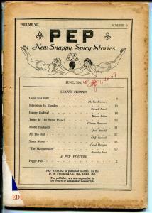 PEP STORIES 6/1937-SPICY STORIES-RACY PHOTOS-pr/fr