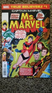 True Believers: Captain Marvel: Ms. Marvel #1 (2019) NM