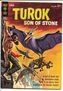 Turok Son Of Stone #42 1964-Gold Key-pre-histoic Indian adventures- Alberto G...