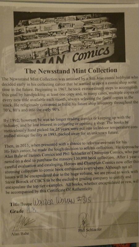 Wonder Woman #315 (May 84, DC) CGC 9.8 Newsstand Mint Pedigree