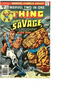 Marvel Two-In-One 21 VG  Doc Savage