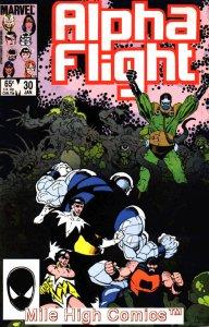 ALPHA FLIGHT (1983 Series)  #30 Very Fine Comics Book