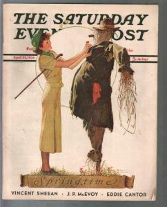 Saturday Evening Post 4/25/1936-Norman Rockwell-pulp fiction-VF
