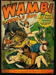 WAMBI THE JUNGLE BOY #1-FICTION HOUSE-KIEFER COVER VG
