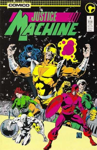 Justice Machine (1987 series) #3, Fine+ (Stock photo)