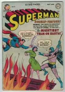 Superman 1st Series #76 GD; DC | Batman and Superman learn each other's identies
