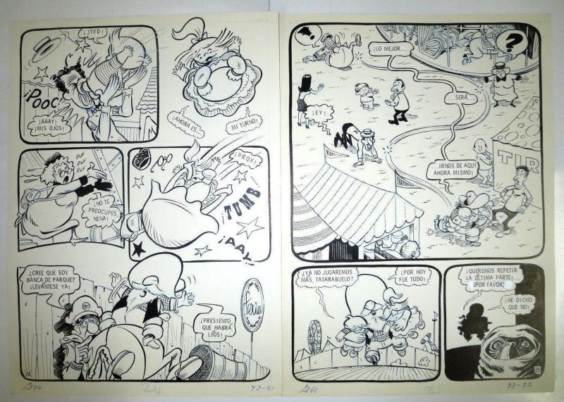 SUGAR & SPIKE Original art Mexican incarnation 11 pages faithful to Mayer great