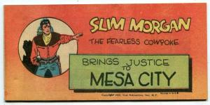 Slim Morgan Brings Justice to Mesa City promo comic Timely 1950