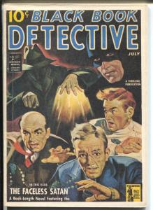 Black Book Detective 7/1942-James Hanos reprint-Faceless Satan Black Bat-VF