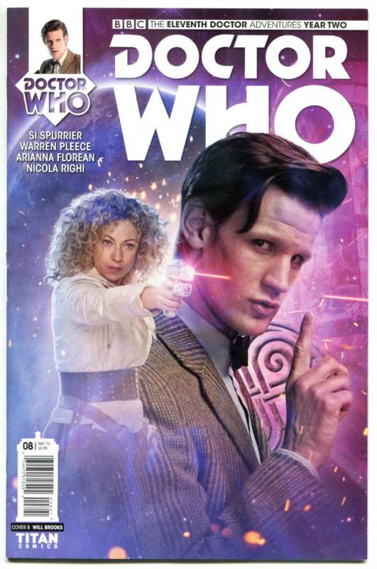 DOCTOR WHO #8 B, NM, 11th, Tardis, 2015, Titan, 1st, more DW in store, Sci-fi