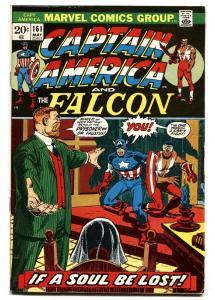 CAPTAIN AMERICA #161 1973-FALCON-comic book-VF