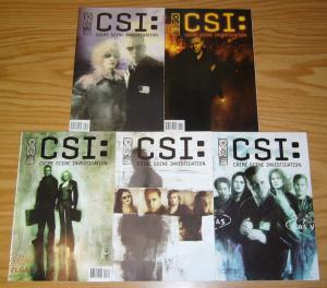 CSI: Crime Scene Investigation #1-5 VF/NM complete series - ashley wood variants