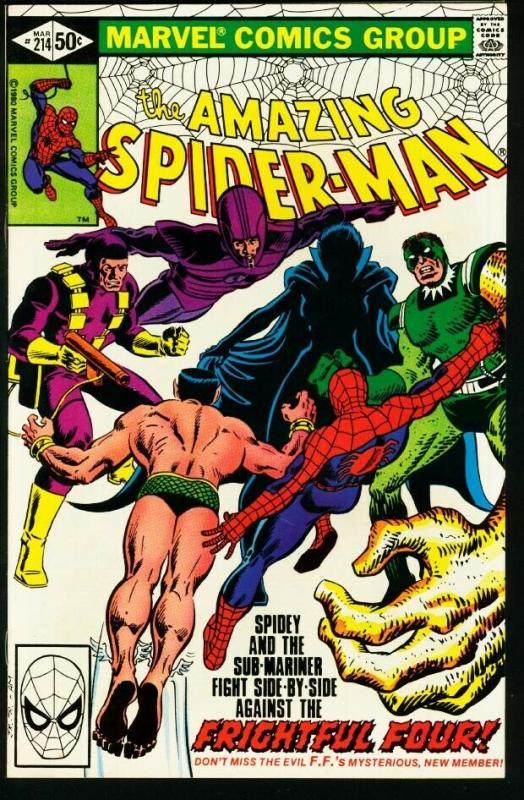 AMAZING SPIDER-MAN #214-1981-MARVEL-very fine VF
