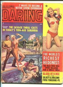 MAN'S DARING-JUNE 1964-PULP VIIOLENCE-BASIL GOGOS-TEEN-AGE THRILL CULT-pr/fr