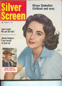 Silver Screen-Elizabeth Taylor-Jimmy Rodgers-Chuck Connors-Glenn Ford-Aug-1959