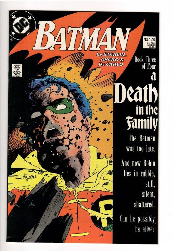 BATMAN 428 DEATH OF ROBIN! VF/NM  9.01st Prt!
