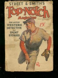 TOP-NOTCH MAGAZINE AUG 15 1931 STREET & SMITH BASEBALL G