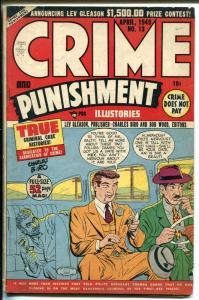 Crime and Punishment #13 1949-Lev Gleason-Hop-Head Harris-Violent-Murder-VG