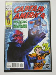 Captain America (Marvel 2014) #25 Falcon to Cap Hasbro Variant Cover Red Skull