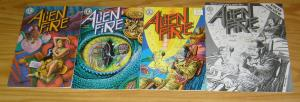 Alien Fire #1-3 VF/NM complete series + sneak preview - kitchen sink set lot 2