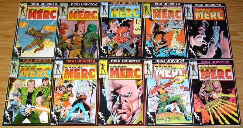 Mark Hazzard: Merc #1-12 VF/NM complete series + annual - peter david - beachum