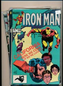 MARVEL SET of 5-IRON MAN #184-188  1984  VERY FINE (PF717)