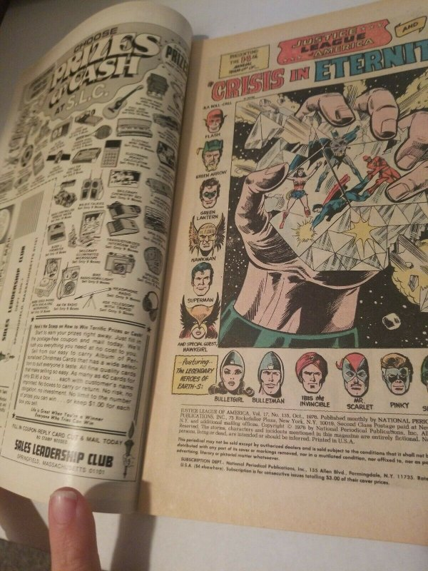 Justice League Of America No.135 Annual Just Society Justice League Team Up